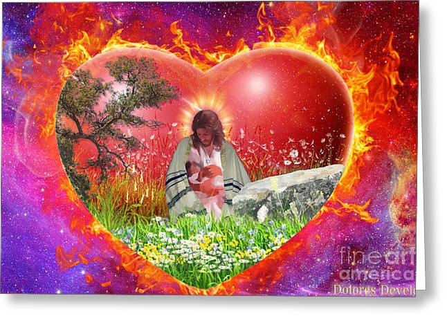 With Love Digital Art Greeting Cards - The Garden of Gods heart Greeting Card by Dolores Develde