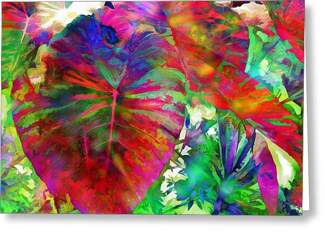 Garden Art Reliefs Greeting Cards - The Garden Of The Last Poets Greeting Card by Daniel  Arrhakis