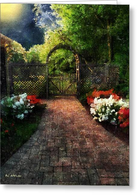Star Greeting Cards - The Garden Path Greeting Card by RC deWinter
