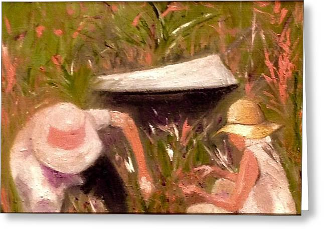 Gray Hair Greeting Cards - The Gardeners  Greeting Card by Yolanda Terrell