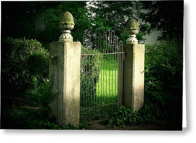 Shenandoah Valley Greeting Cards - The Gate Greeting Card by Joyce Kimble Smith