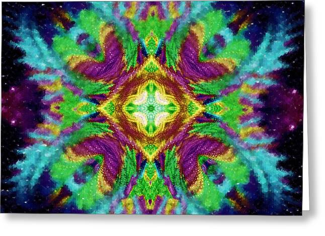 Abstract Digital Mixed Media Greeting Cards - The Gate to the Fractal Universe Greeting Card by Mario Carini
