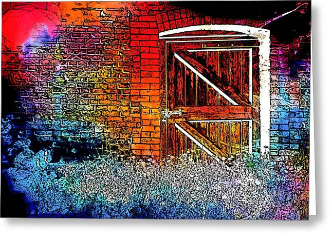 The Gate Greeting Card by Tom Gowanlock