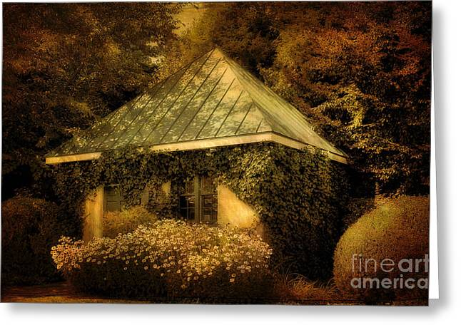 Vintage Gatehouse Greeting Cards - The Gatehouse Greeting Card by Lois Bryan