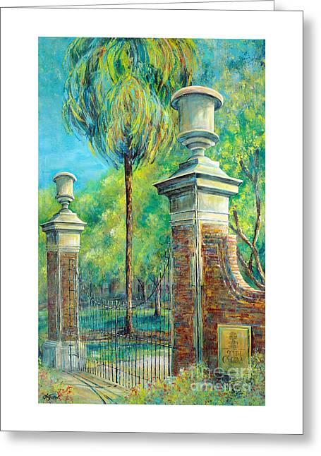 The Gates Of The Horseshoe I Greeting Card by Lindsey Fisher