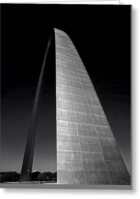 Metal Art Greeting Cards - The Gateway Arch - St Louis Greeting Card by Mountain Dreams