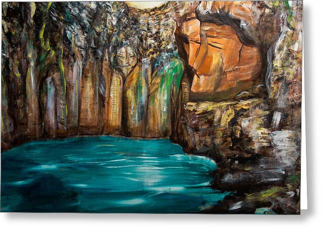 Recently Sold -  - Tablets Greeting Cards - The Gateway Greeting Card by Solveig Katrin