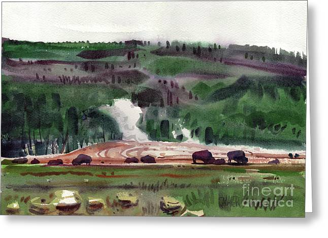 Geysers Greeting Cards - The Gathering Greeting Card by Donald Maier