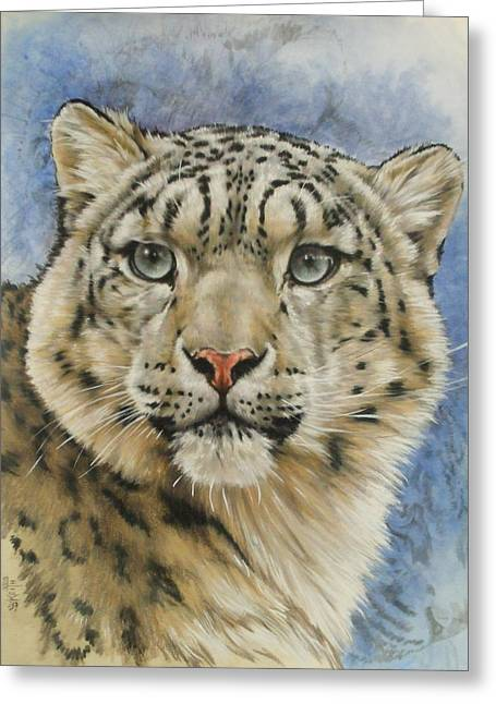 Wildcats Mixed Media Greeting Cards - The Gaze Greeting Card by Barbara Keith