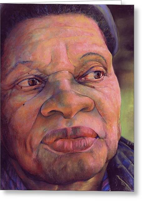 African Pastels Greeting Cards - The Gaze Of Mother Witt Greeting Card by Curtis James