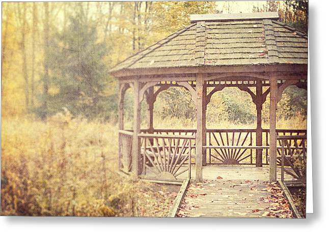 Nature Center Greeting Cards - The Gazebo in the Woods Greeting Card by Lisa Russo