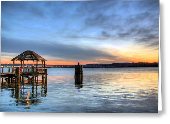 Potomac Greeting Cards - The Gazebo  Greeting Card by JC Findley