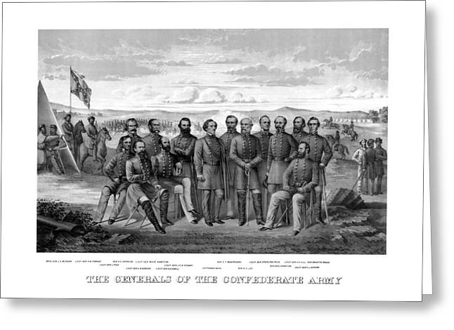 Hills Greeting Cards - The Generals Of The Confederate Army Greeting Card by War Is Hell Store