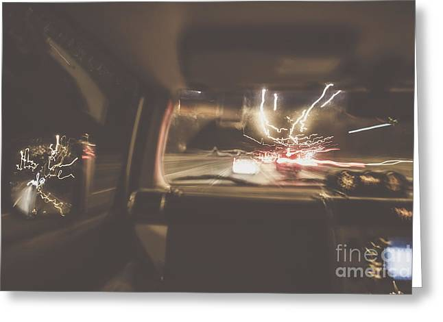 The Getaway Car Chase Greeting Card by Jorgo Photography - Wall Art Gallery
