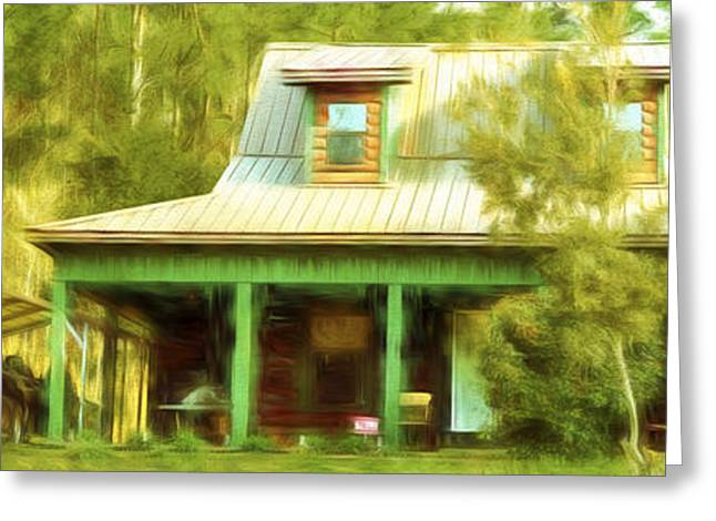 Thoreaus Cabin Greeting Cards - The Getaway - Digital Painting Greeting Card by Barry Jones