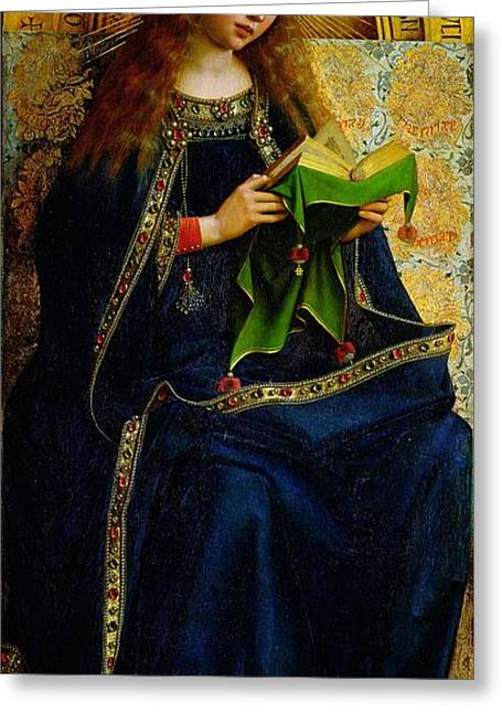 Mary Greeting Cards - The Ghent Altarpiece The Virgin Mary Greeting Card by Jan and Hubert Van Eyck