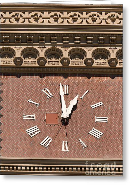 Ghirardelli Chocolate Greeting Cards - The Ghirardelli Chocolate Factory Clock Tower San Francisco California DSC3238 Greeting Card by Wingsdomain Art and Photography