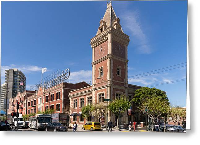 Ghirardelli Chocolate Greeting Cards - The Ghirardelli Chocolate Factory Clock Tower San Francisco California DSC3245 Greeting Card by Wingsdomain Art and Photography