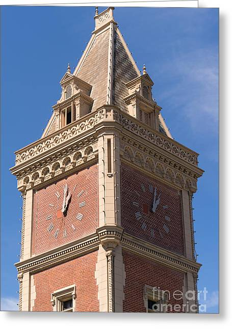 Ghirardelli Chocolate Greeting Cards - The Ghirardelli Chocolate Factory Clock Tower San Francisco California DSC3247 Greeting Card by Wingsdomain Art and Photography