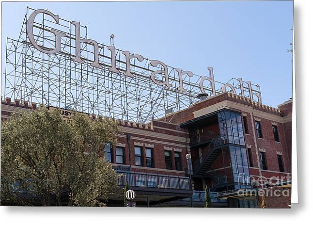 Ghirardelli Chocolate Greeting Cards - The Ghirardelli Chocolate Factory San Francisco California DSC3223 Greeting Card by Wingsdomain Art and Photography