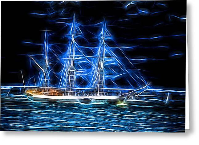 Tall Ships Greeting Cards - The Ghost Ship Greeting Card by Martin Wall