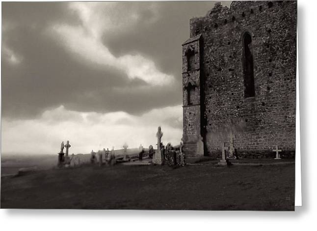 Ghostly Greeting Cards - The Ghosts of Cashel Rock Ireland Greeting Card by Menega Sabidussi