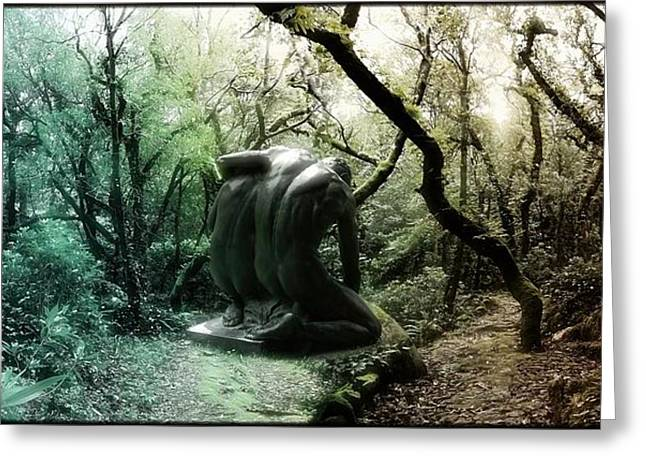 Mystic Art Greeting Cards - The Giants Of The Forest Greeting Card by Daniel  Arrhakis