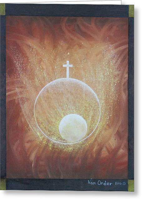 Adam Pastels Greeting Cards - The Gift of Life Greeting Card by Richard Van Order