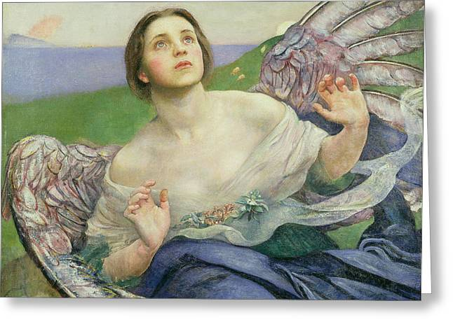 Restored Greeting Cards - The Gift of Sight Greeting Card by Annie Louisa Swynnerton