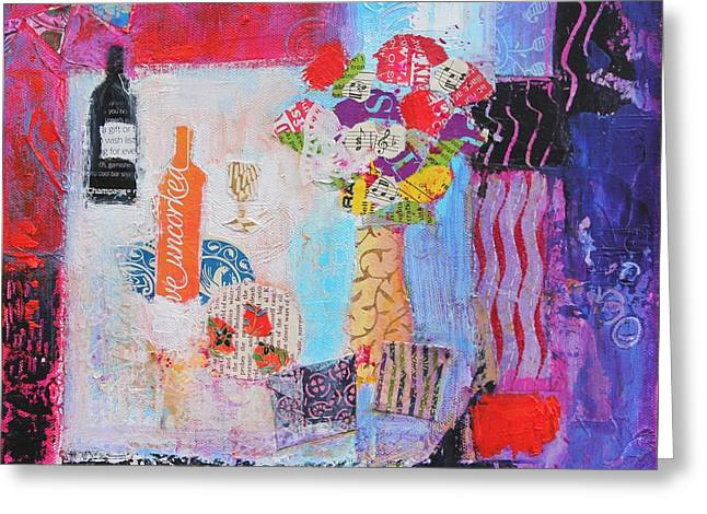 Interior Still Life Paintings Greeting Cards - The Gifts Greeting Card by Sylvia Paul