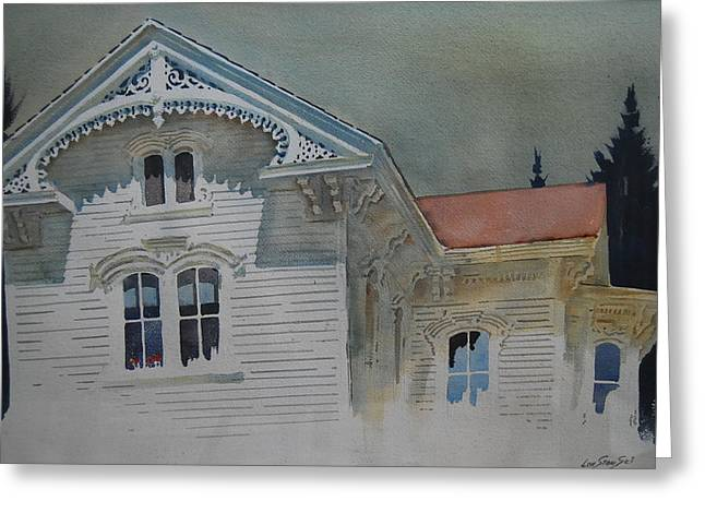 Berkshires Of New England Greeting Cards - the Ginger Bread House Greeting Card by Len Stomski