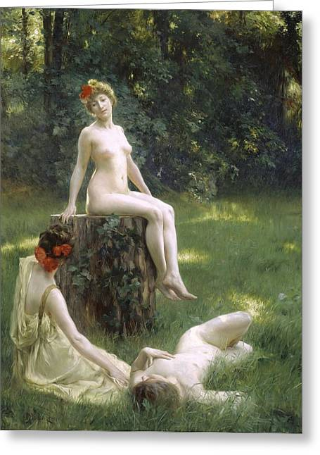 The Glade Greeting Card by Julius Leblanc Stewart
