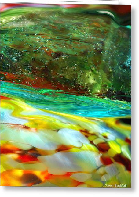 Interior Still Life Greeting Cards - The Glass Tide Greeting Card by Donna Blackhall