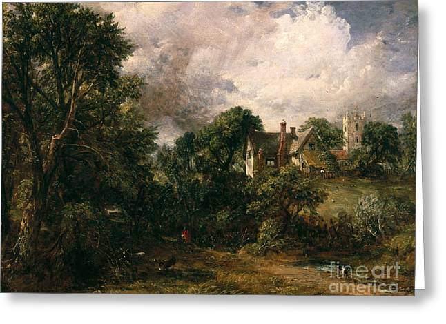 Hillsides Greeting Cards - The Glebe Farm Greeting Card by John Constable