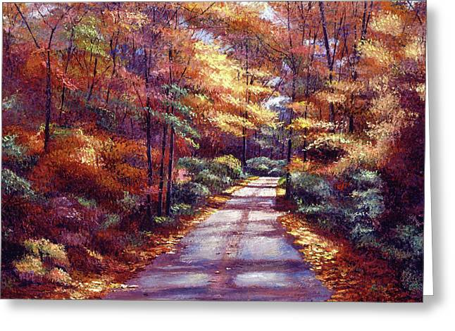 The Glory Of Autumn Greeting Card by David Lloyd Glover