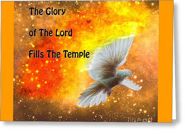 Art Book Greeting Cards - The Glory of The Lord Greeting Card by Beverly Guilliams