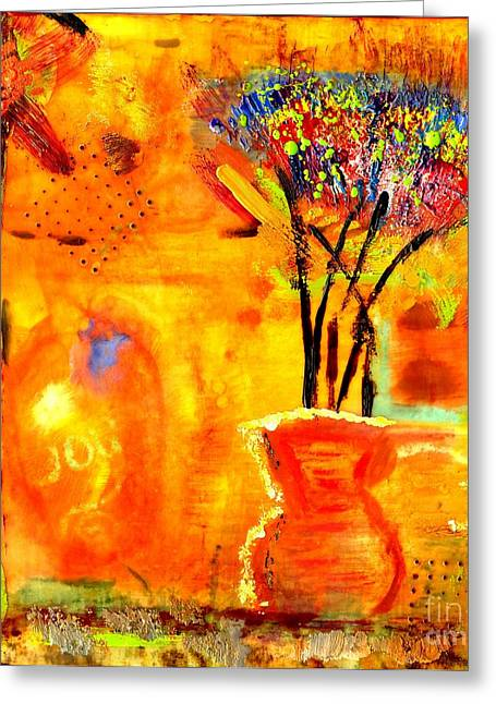 Survivor Art Greeting Cards - The Glow of JOY Greeting Card by Angela L Walker