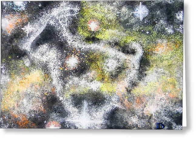 Astrology Pastels Greeting Cards - The Goat Greeting Card by Dennis Goodbee