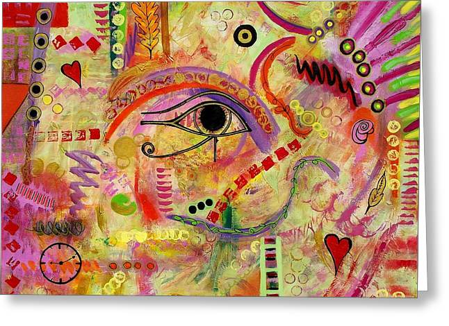 Fushia Greeting Cards - The Gods Must be Crazy Greeting Card by Denise Peat