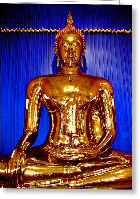 Allegoric Greeting Cards - The Golden Buddha. Bangkok. Thailand. Greeting Card by Andy Za