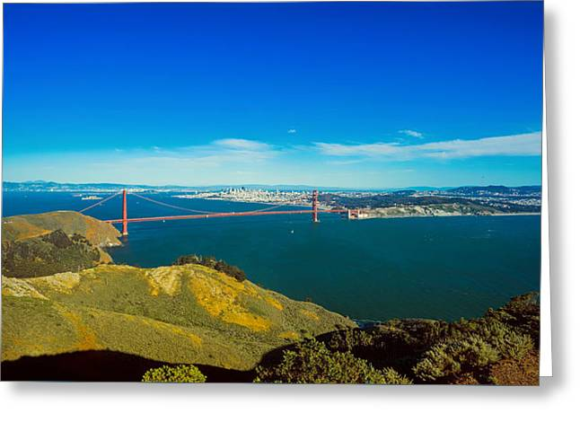 Famous Bridge Greeting Cards - The Golden Gate Bridge In The Distance Greeting Card by Unsplash