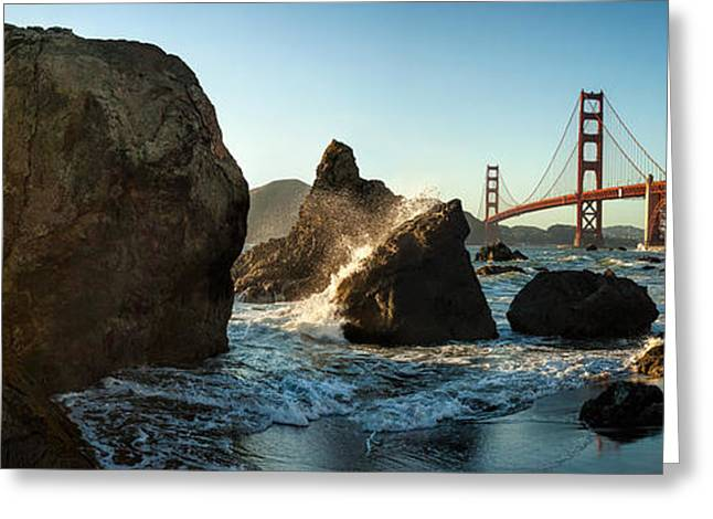 Rocks Greeting Cards - The Golden Gate Greeting Card by Michael Kaupp