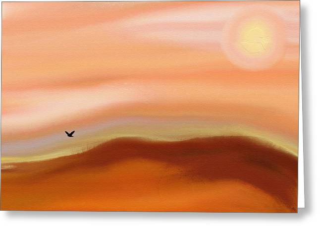 Nature Abstract Greeting Cards - The Golden Hills Greeting Card by Lenore Senior