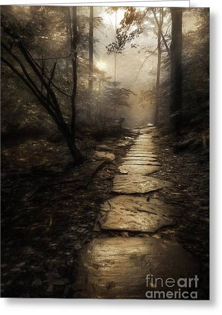 The Golden Path Greeting Card by Lori Deiter