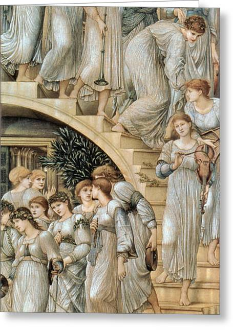Poynter Greeting Cards - The Golden Stairs Greeting Card by Celestial Images