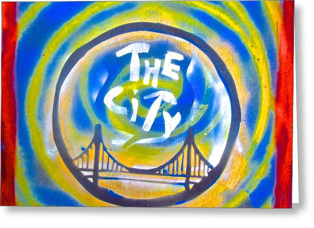 African-americans Greeting Cards - The Golden State City #1 Greeting Card by Tony B Conscious