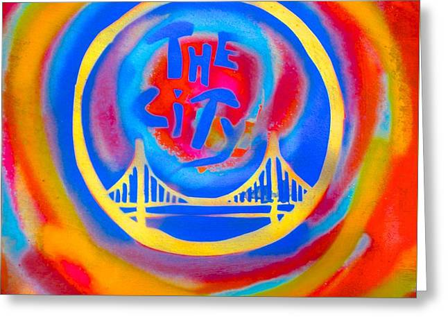 African-americans Greeting Cards - The Golden State City #2 Greeting Card by Tony B Conscious