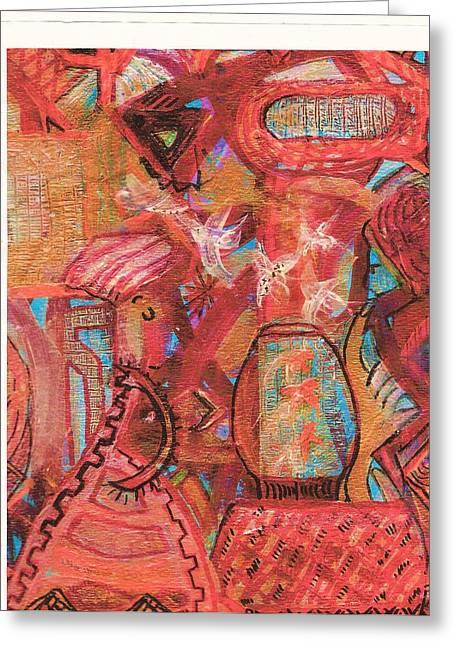 The Goldfish Bowl Greeting Card by Anne-Elizabeth Whiteway