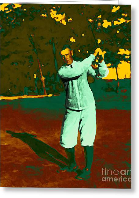 Golfcourse Greeting Cards - The Golfer - 20130208 Greeting Card by Wingsdomain Art and Photography
