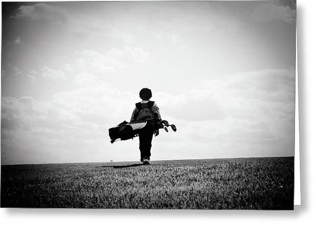 Golf Photographs Greeting Cards - The Golfer Greeting Card by Shawn Wood